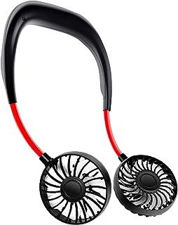 携帯扇風機3段風量調節 首かけ ハンズフリー 2600mAh ハンディファン  ミニ オフィス アウトドア熱中症対策