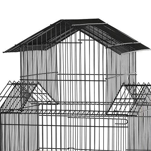 Yaheetech Jaula para Pájaros Jaula Metálica con Soporte Ruedas …