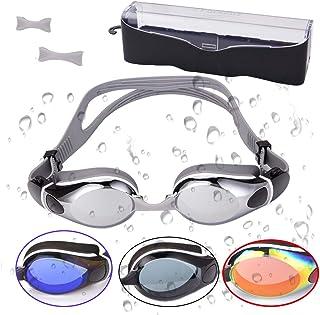 FIRSTLIKE Swim Goggles, Swimming Glasses No Leaking Anti Fog UV Protection for Adult Men Women Youth Kids Child, Shatter-P...