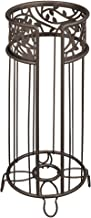 "iDesign Vine Free Standing Toilet Paper Holder for Bathroom - Bronze,6.25"" x 6.25"" x 15.25"""