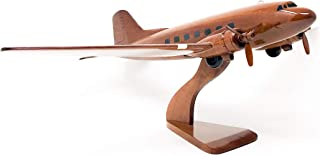Dc-3/C-47 Replica Airplane Model Hand Crafted with Real Mahogany Wood