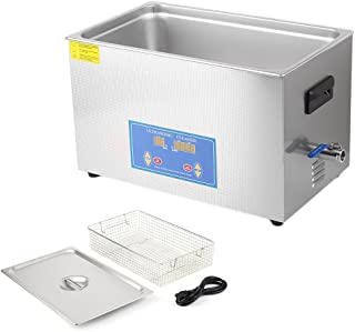 Nexttechnology Ultrasonic Cleaner 30L Stainless Steel Ultrasonic Tank Cleaning Equipment Heated Sonic Jewelry Washer Machine (30L)