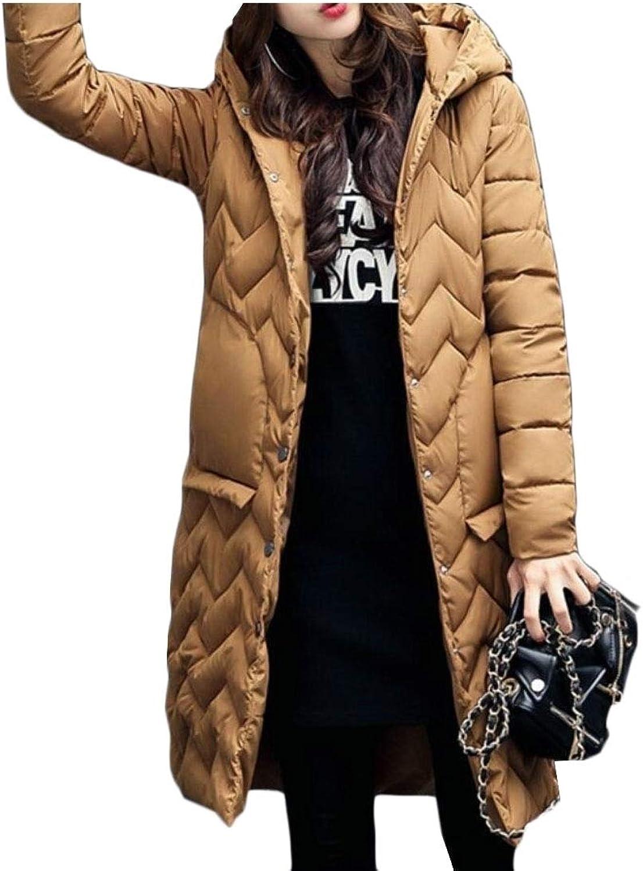 Women Winter Warm Down Coat Hooded Parka Puffer Jacket Long Overcoat