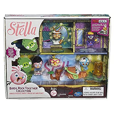 Angry Birds Stella Telepods Birds Rock Together Figure Collection [Stella, Poppy, Willow, Gale, & Dahlia]