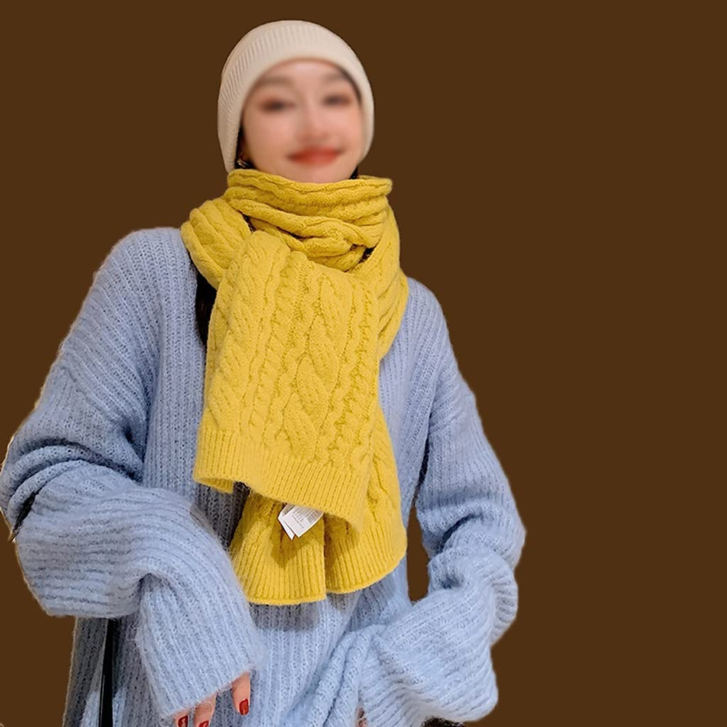 GYZCZX Female Solid Color Autumn Womenknit Wool War Japan Maker New Max 42% OFF Scarf Winter
