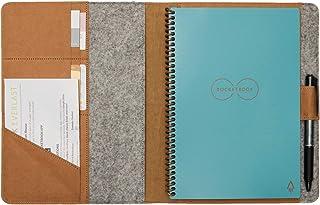 "Rocketbook Cover for Letter Size 11 ""x 8.5"" نوت بوک هوشمند مانند Everlast یا Wave با دارنده قلم و جیب کارت ویزیت و اعتباری"