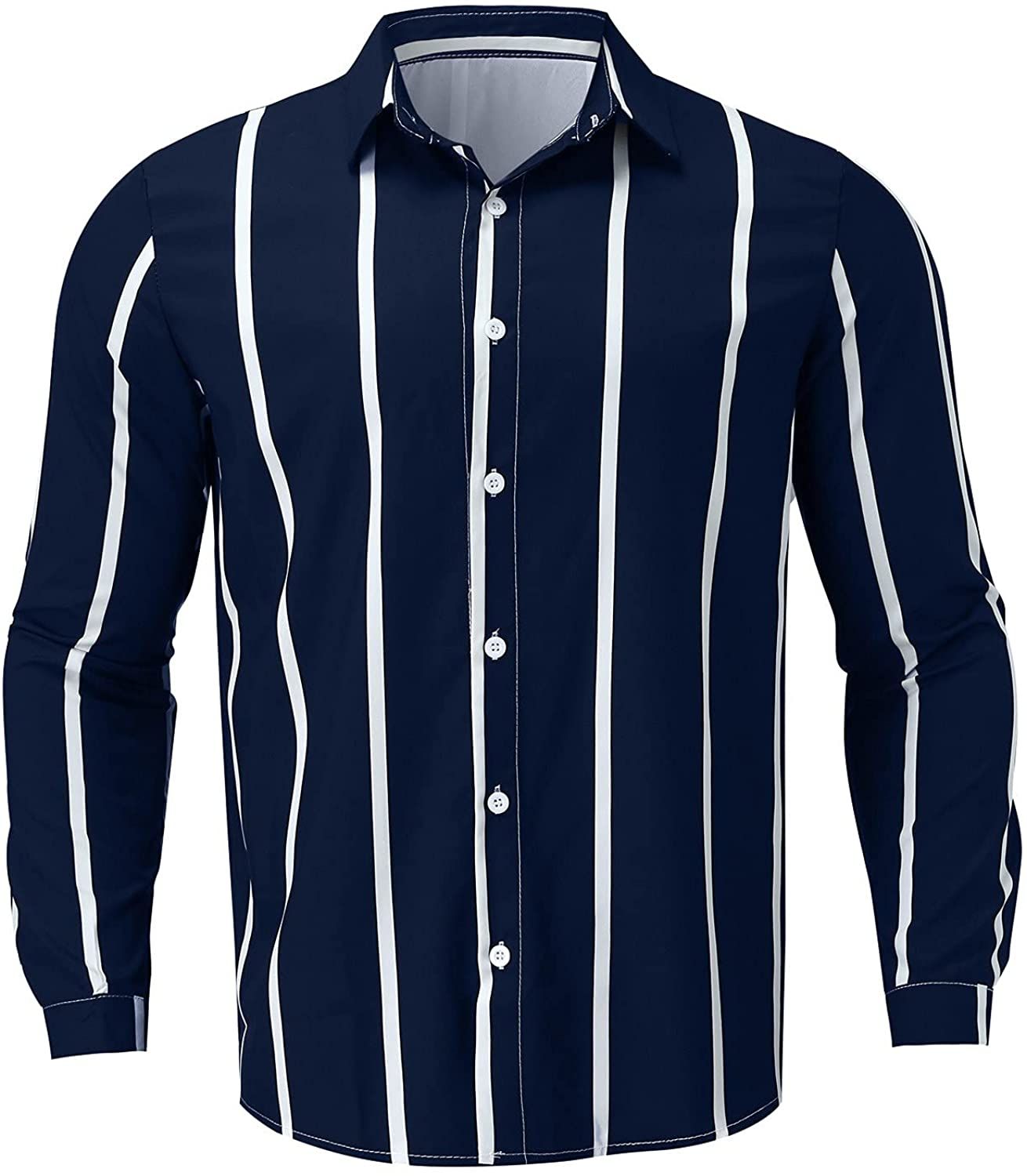 AMTF 2021 Mens Solid Color Long Sleeve Double Pockets Turn-Down Collar Button Button Blouse Fall Corduroy Shirt Jacket