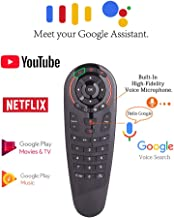2.4G Wireless Voice Control Sensing Air Remote Mouse, 6 Axis Gyroscope Voice Remote Controller, G30s Remote Control with 33 Button IR Learning for Google Assistant Android TV Box