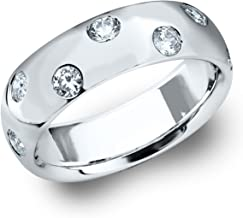 Eternity Wedding Bands LLC 14K White Gold Etoile Diamond Ring (.25 cttw, H-I Color, I1-I2 Clarity)