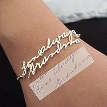 Handwriting Bracelet Custom Actual Handwriting Jewelry Signature Bracelet Memorial Personalized Keepsake Gift Mother's Gift 925 Sterling Silver