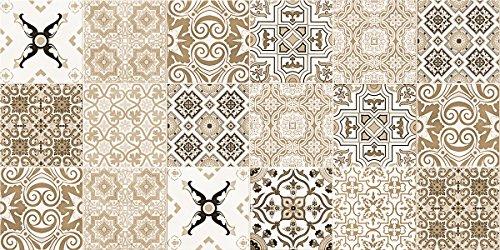 Laroom Alfombra Vinílica de Cocina Diseño Faro, Vinilo Antiliscante, Beige, 50x100 cm