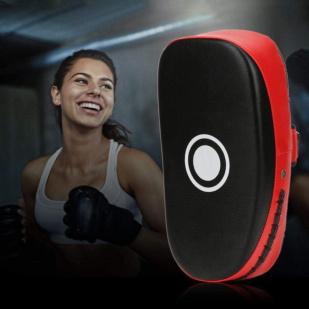 Artes Marciales Taekwondo  Punzonado MMA Karate Muay Thai Pad para entrenamiento  Curved Kickboxing Kicking Strike Shield  Entrenamiento Kick Boxing pie rodilla y codo 1 pieza rojo