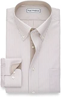 Men's Tailored Fit Non-Iron Cotton Stripe Button Down...