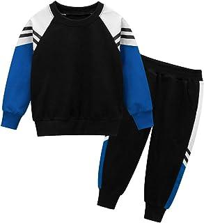 ملابس رياضية للأولاد والفتيات سويت شيرت للأطفال سويت شيرت قمم رياضي زي رياضي بدلة الركض طقم ملابس قطعتين