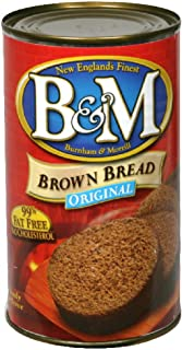 B&M Bread Plain Brown, 16-Ounce (Pack of 6)
