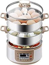 DYB Cuiseur à Vapeur électrique à 3 Niveaux, cuiseur à Vapeur à légumes Cuiseur à légumes à 3 Niveaux, capacité des panier...