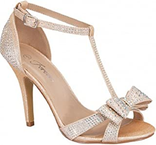Forever Alina-64 Women's Fashion Bridal Formal Ankle Strap Open Toe Heels Evening Dress Sandals
