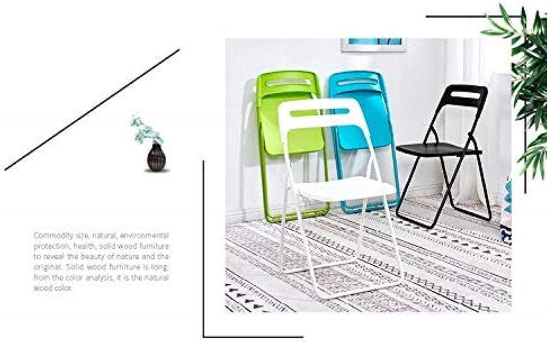 Solide Chaise De Bureau Chaise Pliante Portable Principale Chaise De Bureau des Informatique Simple, Tabouret Chaise De Salle Stable (Color : Green) Blue