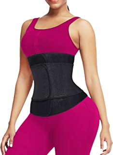 QEESMEI Waist Trainer for Women Sauna Sweat Embossed Neoprene Waist Trimmer for Weight Loss