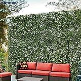 Windscreen4less Artificial Faux Ivy Leaf Decorative Fence Screen 58' x 197' Ivy Leaf Decorative Fence Screen