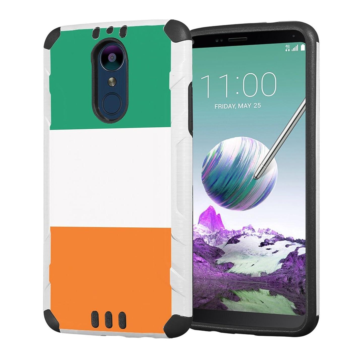 Moriko Case Compatible with LG Stylo 4 Plus, LG Stylo 4, LG Q Stylus [Drop Protection Hybrid Dual Layer Armor Protective Dual Layer Case White] for LG Stylo 4 - (Ireland Flag)