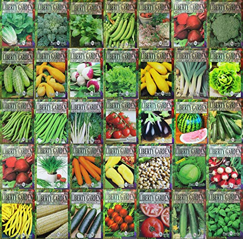 Set of 35 Premium Variety Herbs and Vegetables - Deluxe Garden Choices for Premium Gardening! (35 Liberty Garden Premium Vegetable)