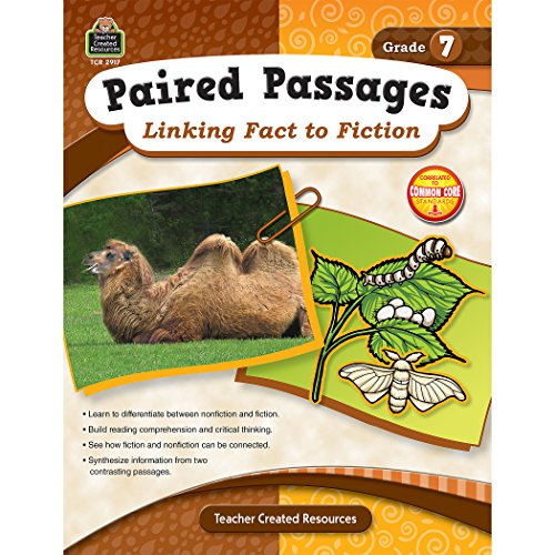 Teacher Created Resources Paired Passages: Linking Fact to Fiction Book, Grade 7