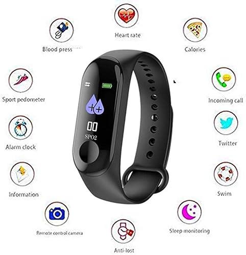 Alakazam M3 Smart Fitness Wristband Smart Watch Heart Rate Monitor Smart Fitness Bracelets Activity Pedometer Bluetooth Exercise Tracker