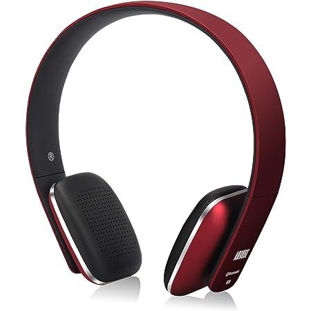 August EP636 ヘッドホン ワイヤレス Bluetooth&NFC&HIFI マイク搭載 ハンズフリー通話 音楽再生 (レッド)