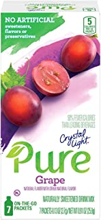 Crystal Light Pure Grape Drink Mix (84 On the Go Packets, 12 Boxes of 7)