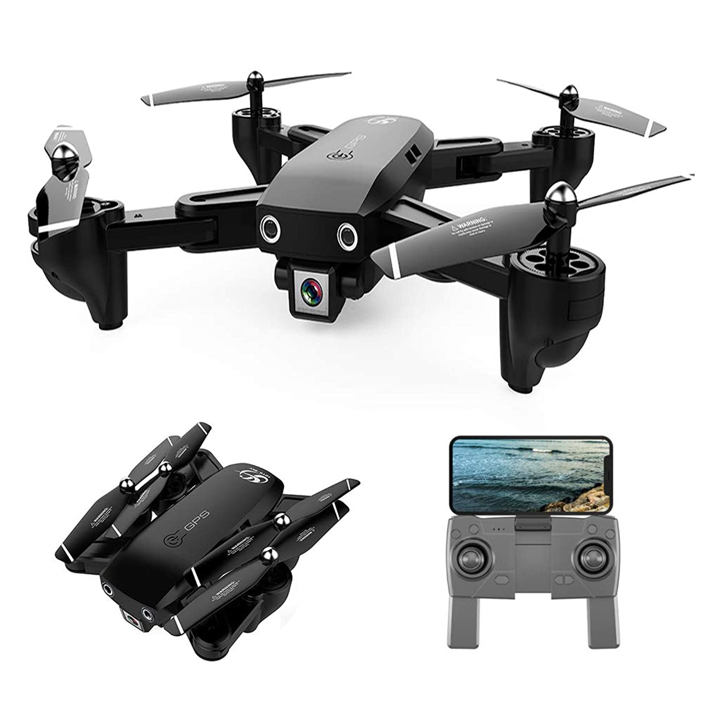 GoolRC CSJ S166 GPS RC Drone with 1080P HD Camera Follow Me Auto Return WiFi FPV Live Video Gesture Photos RC Quadcopter for Adults