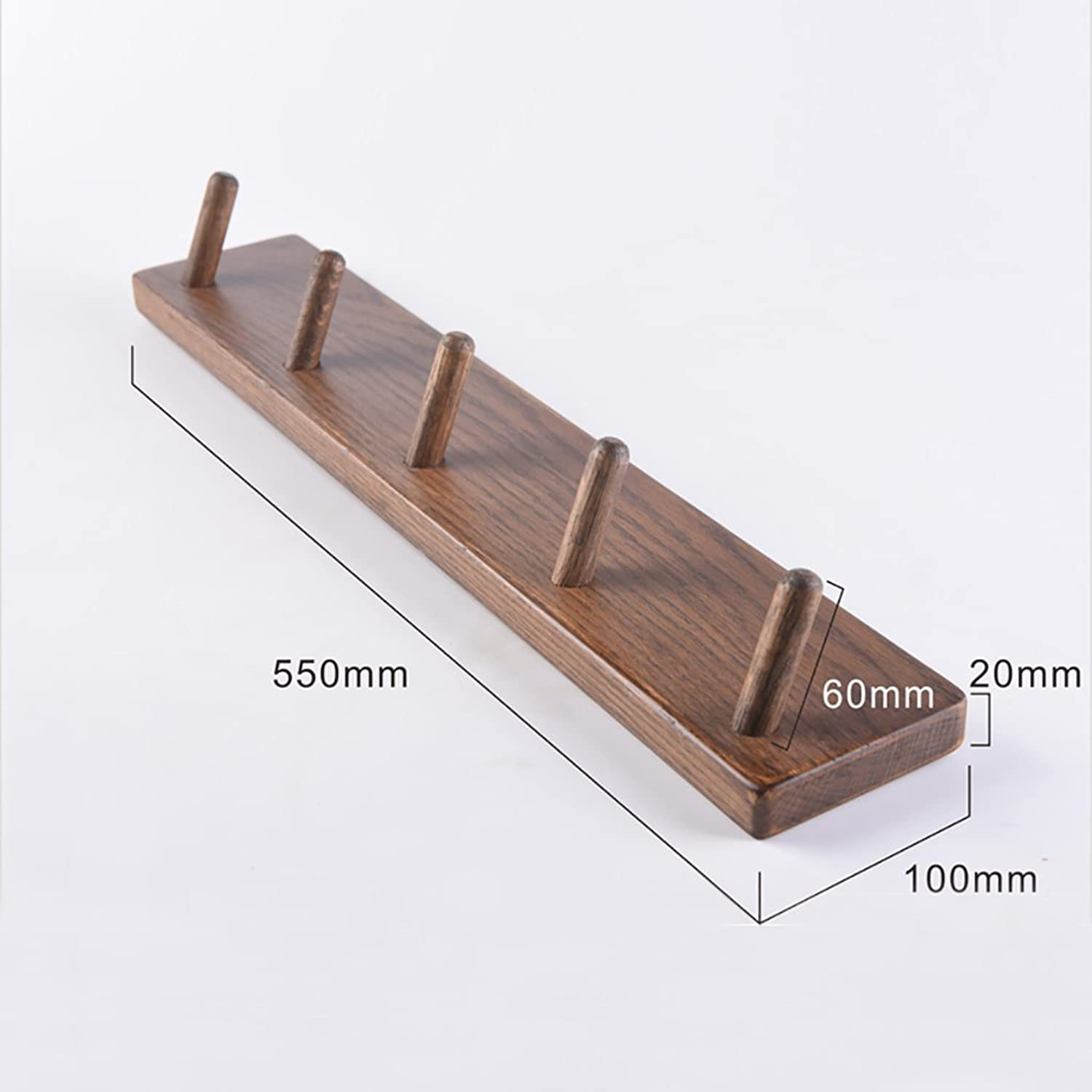 Coat Rack Nordic Style Solid Wood Coat Rack Wall-Mounted Simple Multifunctional Coat Hook Bedroom Hanging Clothes Rack Simple Modern Home Clothes Rack (Size   A2)
