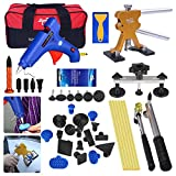 AUTOPDR 50Pcs DIY Automobile Car Body Paintless Dent Repair Removal Remover Tools Kits Lifter Puller Tabs Dent Bridge Puller Sets with Hot Glue Gun Stick Hail Slide Hammer
