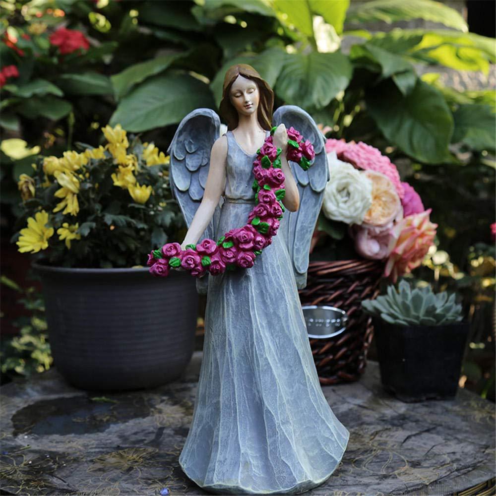 SGHTYJ Rústico Vintage Resina Carácter Angelito Escultura Decoración Jardinería al Aire Libre Jardín Decoración Jardín Decoración: Amazon.es: Hogar