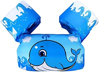 UniShop Kids Swim Vest Float Armbands, Toddler Boys Girls Swimming Trainer Jacket for 2-6 Years Old Swimming Arm bands Flo...