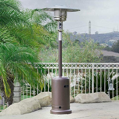 RRH Patio Heater Outdoor Patio Heater with Wheels, Portable Commercial Gas Propane Heater, for Garden Party, 48,000 BTU