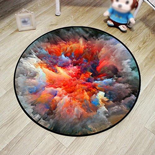 WLH- Carpet Personality Creative Mat voetmat Entree Computer Stoel Ronde Kruk Mat (Color : E, Size : 100cm)