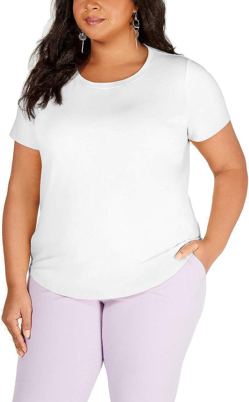 Bar III Trendy Plus Size Crewneck T-Shirt