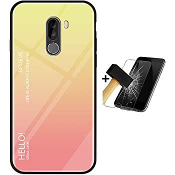 PANXIYUE Funda Xiaomi Pocophone F1,Carcasas de Vidrio en Color ...