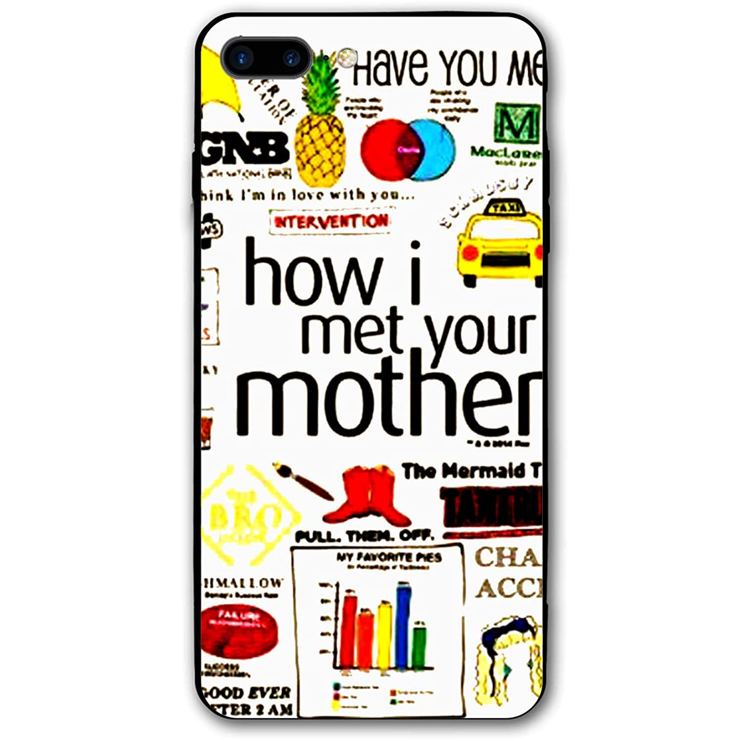 Xyybbn How I Met Your Mother Unisex Quote Mashup Popular Shock Absorbent Covers Mobile Case for iPhone 7Plus/8Plus