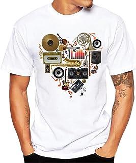 Clearance! Hot sale ! T-shirt for men Charberry Men Printing Tees Shirt Short Sleeve T Shirt Blouse mens top