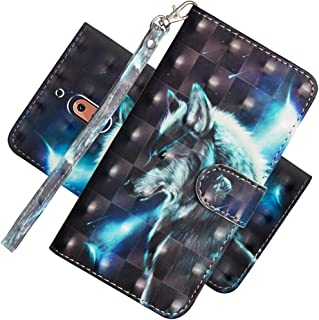 EMAXELER Nokia 2.1 Case Cover 3D Full Stylish Case Protect Colour Embossing Kickstand Flip Credit Pockets PU Leather Flip Wallet with Stand for Nokia 2.1