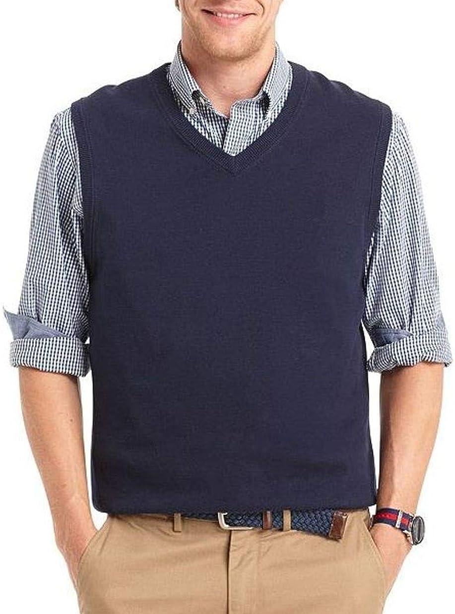 Croft & Barrow Mens Classic Fit Lightweight V-Neck Sweater Vest Dark Blue
