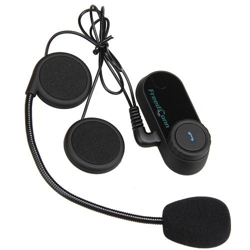 Freedconn FDC02 Moto Intercom Oreillette Bluetooth Plug Casque de Moto Interphone 800M Noir EU