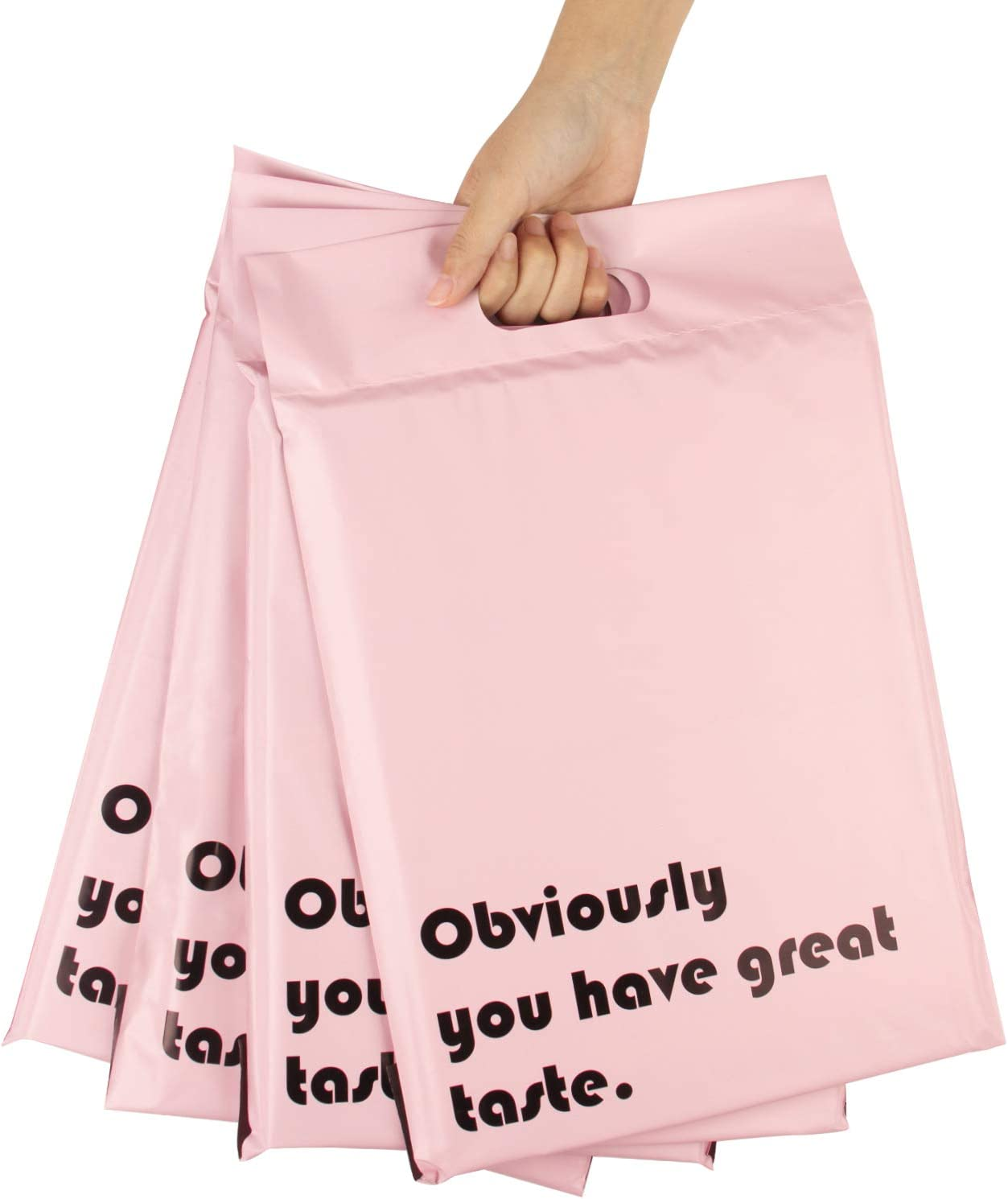 RUSPEPA Super sale period limited Poly Mailers 10x13 Inch Max 70% OFF with Shippi Handle Pink Build-in
