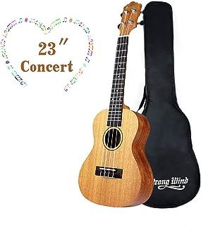 Ukulele Mahogany Ukuleles for Beginner Ukulele Pack Concert Ukulele Starter Kid Guitar 23 Inch Uke for Kids Student and Adult with Gig Bag