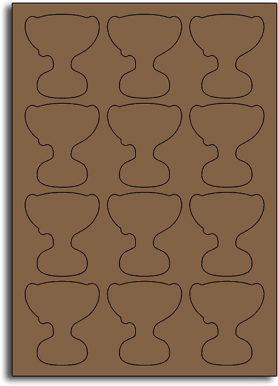 Multi Purpose Metallic Gold Trophy Shaped Labels - - - 12 Labels Per Sheet - 10 Sheets 58mm x 67mm B00BY22Y3O    Feinen Qualität  43bcdc