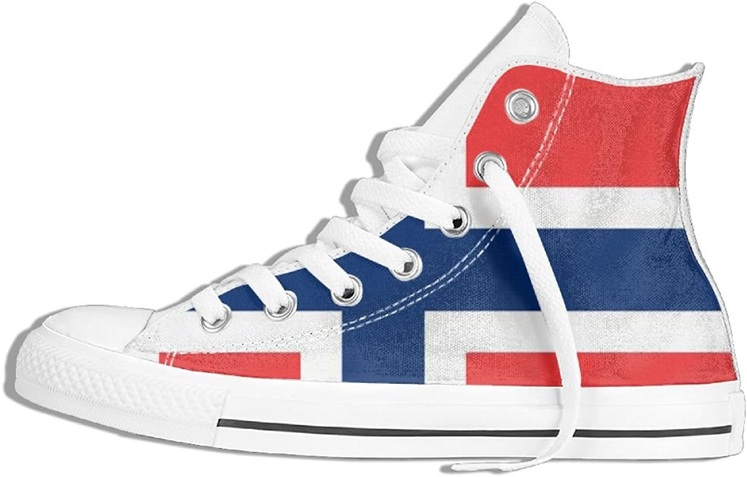 Flag Of Norway High Top Classic Casual Canvas Fashion shoes Sneakers For Women & Men