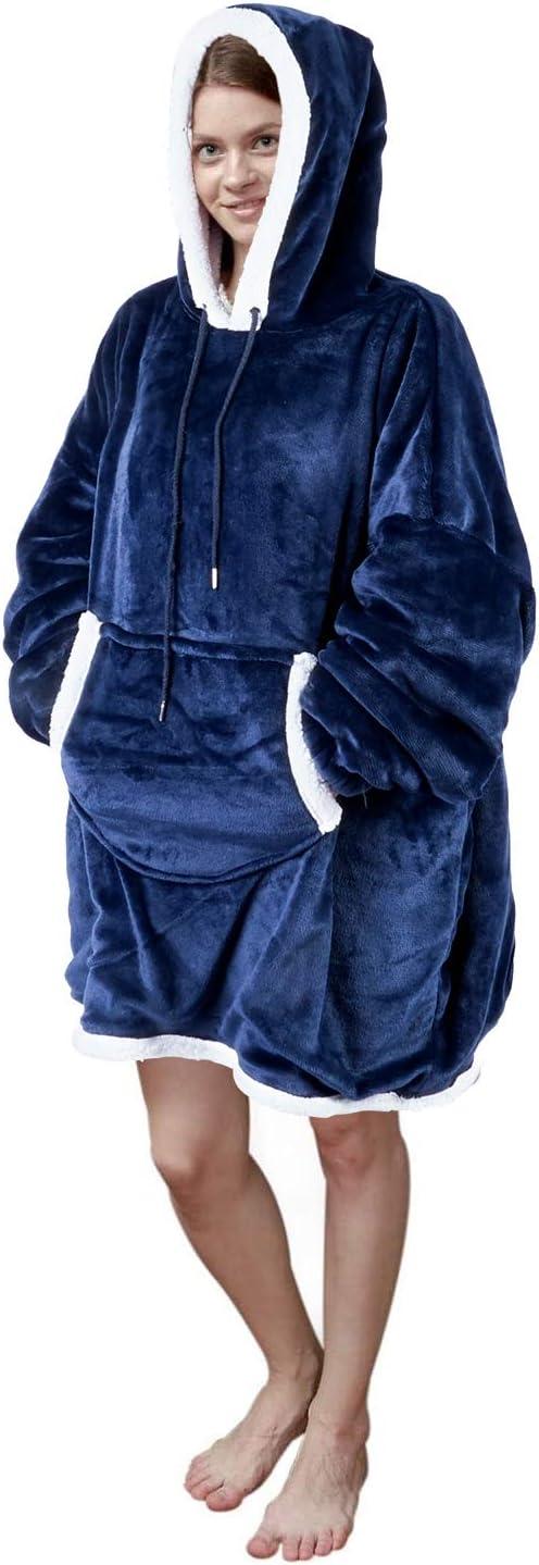 Viviland Hoodie 1 year warranty Sherpa Blanket Sweatshirt Plus Large Soft online shopping F Warm