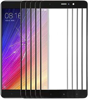 補修部品セット Xiaomi Mi 5s Plus用 10 PCSフロントスクリーンアウターガラスレンズ(ブラック) (Color : Black)